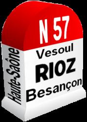 Borne rn57 vesoul rioz besancon v20190311
